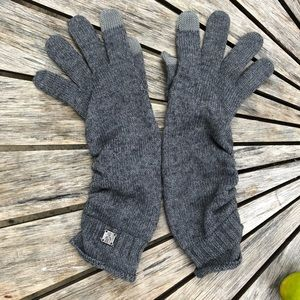 SMARTWOOL part Wool Gloves grey M-L like new!